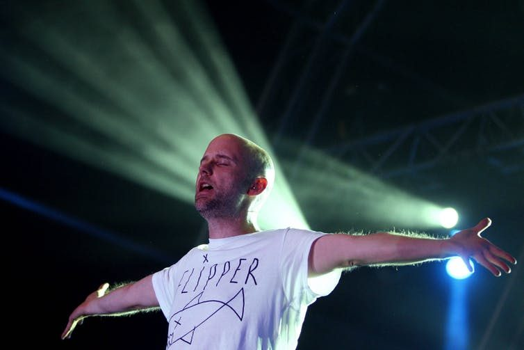 Moby pictured in 2009: he recently described himself as a 'run-of-the-mill, cisgender, heterosexual male'. Estela Silva/EPA