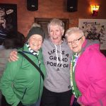 VAL O'DONOGHUE ON LEFT. MAUREEN LOONEY IN MIDDLE. GRAINNE BURKE ON RIGHT. PARYTING AT STREET 66