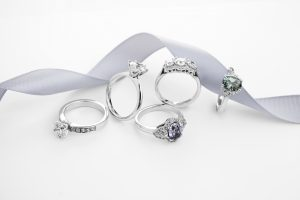Engagement rings styled