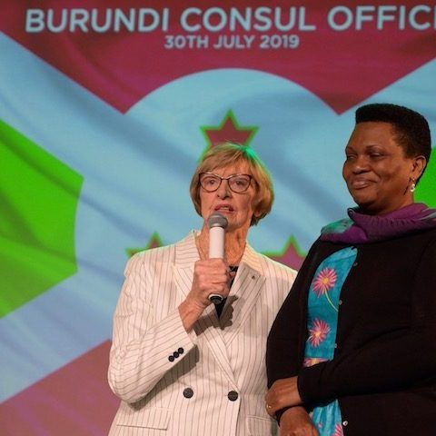 Margaret Court welcomed Denise Bucumi Nkurunziza