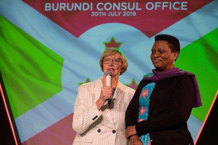 Margaret Court welcomed Denise Bucumi Nkurunziza