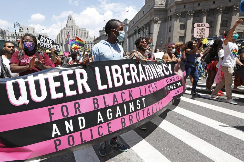 the Queer Liberation March for Black Lives and Against Police Brutality
