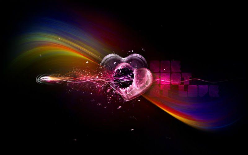 Wallpaper-Heart-Broken-Hearts-Bullet-Riddled-Heart-A-Bullet-A-Rainbow