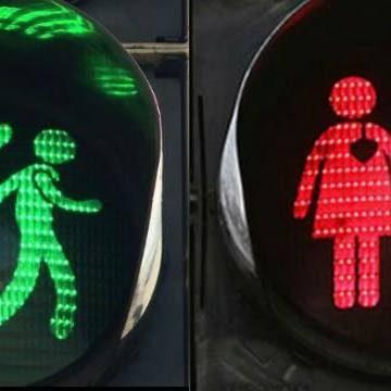Gay & Lesbian Pedestrian Lights in Vienna