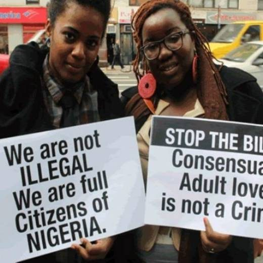 Nigeria's criminalisation of same sex unions a step closer to law.