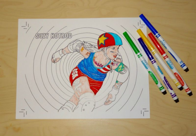 A Roller Derby Colouring Book Is Coming